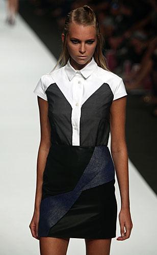 Mauro Gasperi: Camicia bianco nero - gonna
