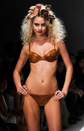 Parah: Bikini Marrone con spalline