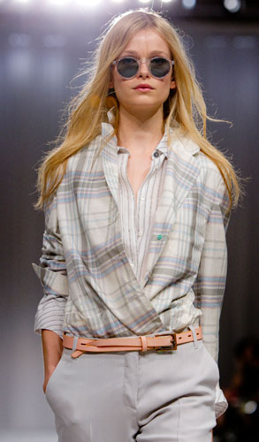 Paul Smith: camicia a quadri con cinta