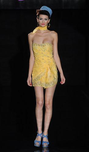 Pin up stars minidress giallo