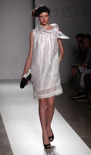 Lorenzo Riva minidress bianco