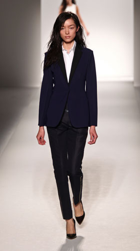 Sportmax giacca blu pantalone nero