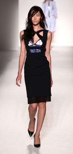 Sportmax: abito nero e floreale