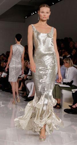 Ralph Lauren: abito da sera argento