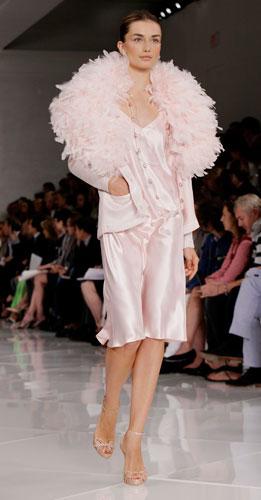 Ralph Lauren: abito rosa con coprispalle