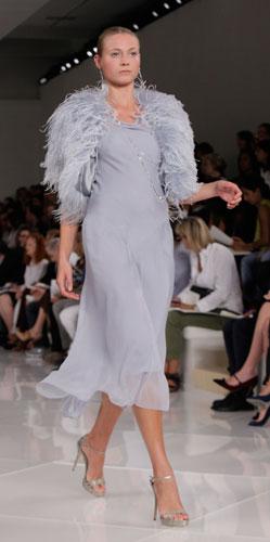 Ralph Lauren: abito e coprispalle lavanda