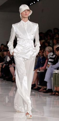 Ralph Lauren: completo e cappello bianco