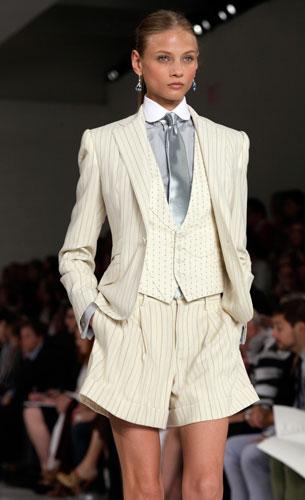 Ralph Lauren: completo corto con cravatta