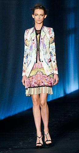 Roberto Cavalli: Giacca fantasia - abito corto