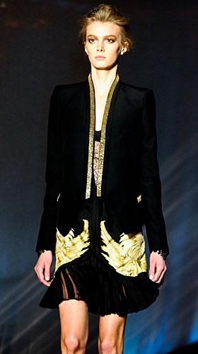 Roberto Cavalli: Giacca lunga nera oro