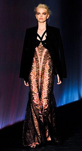 Roberto Cavalli: Giacca nera - abito lungo