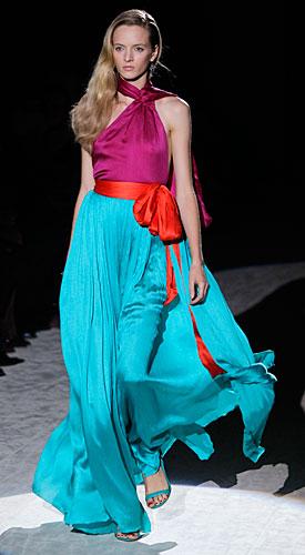 Salvatore Ferragamo: abito lungo multicolore