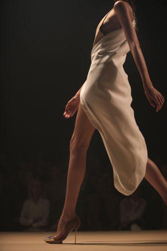 Thierry Mugler vestito panna