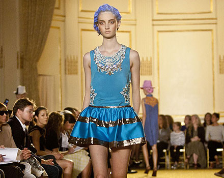 Thakoon mini abito azzurro