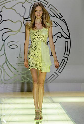 Versace: abito corto giallo