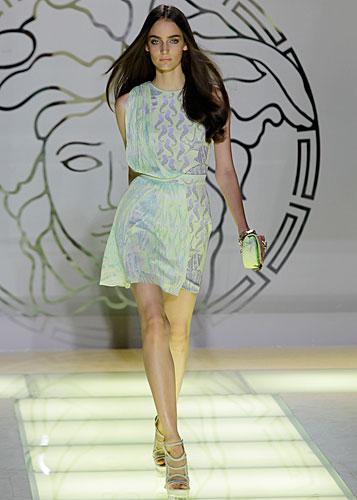 Versace: abito fantasia - cintura in vita