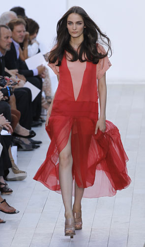 Chloé, abito rosso