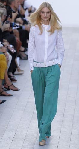 Chloé, pantalone turchese