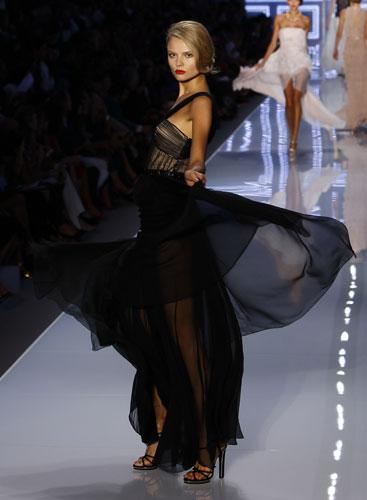 Christian Dior, abito nero lungo