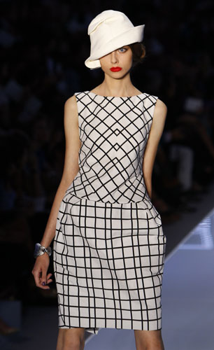 Christian Dior, abito fantasie geometriche