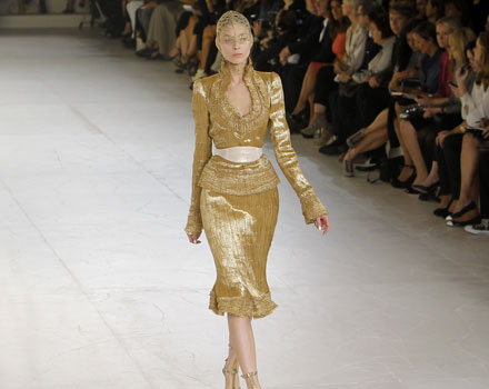 Alexander McQueen, abito oro