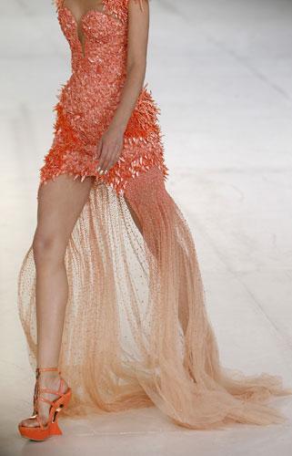 Alexander McQueen, abito arancione