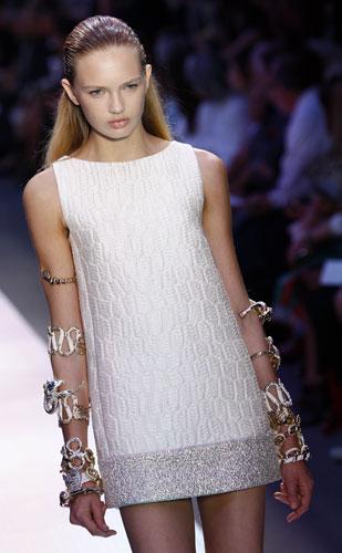 Mini abito bianco Giambattista Valli