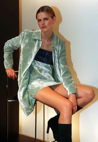 Stella Tennant  giacca velluto