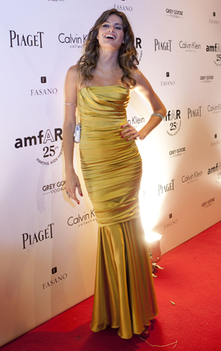 Isabeli Fontana abito da sera giallo
