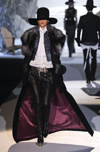 Cappotto con collo pelliccia Dsquared2