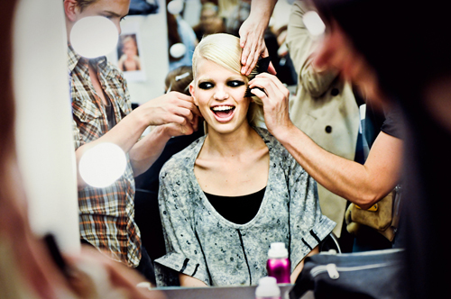 Daphne Groeneveld backstage