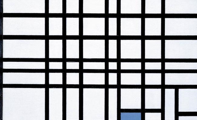 Piet Mondrian, Composizione n. 12 con blu, 1936-1942