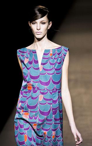 Mini abito stampato Alberta Ferretti