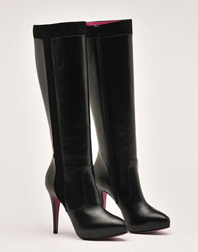 Stivali pelle nera Enrico Coveri