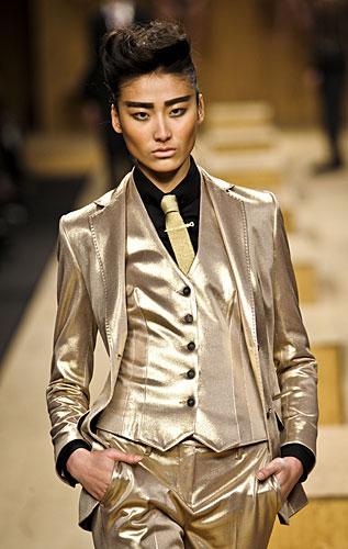 Completo uomo color oro Frankie Morello