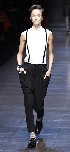 Bretelle, t-shirt bianca Dolce&Gabbana