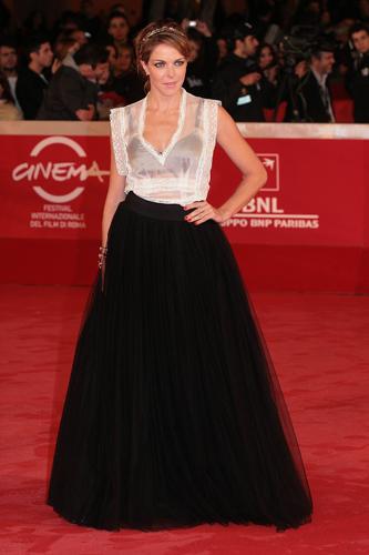 Claudia Gerini abito da sera Alberta Ferretti