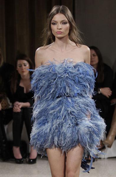 Emilio Pucci mini abito di piume