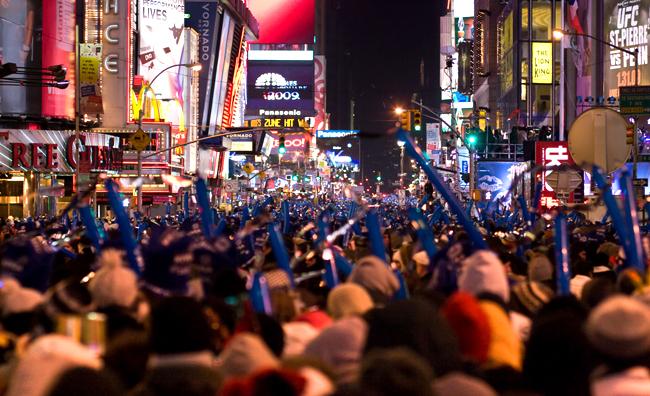 New York: Capodanno pop a Times Square