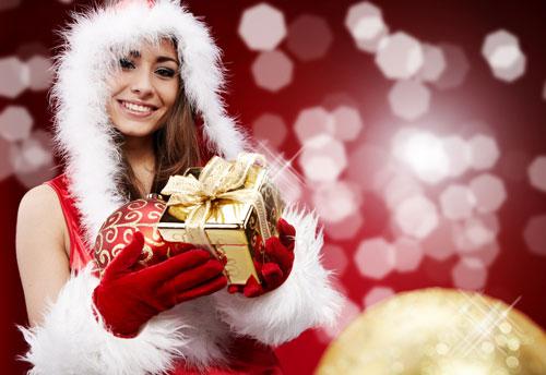 Modella natalizia