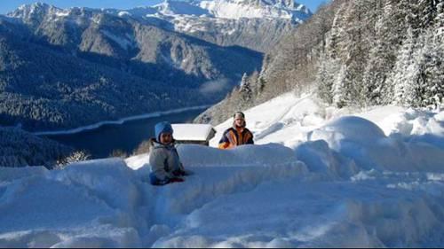 Carnia Lago di Sauris con la neve