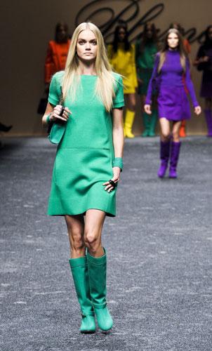 Mini abito verde acqua Blumarine