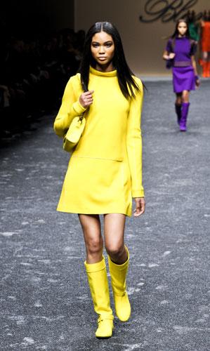 Mini abito giallo Blumarine