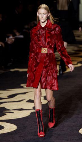 Cappotto rosso Versace