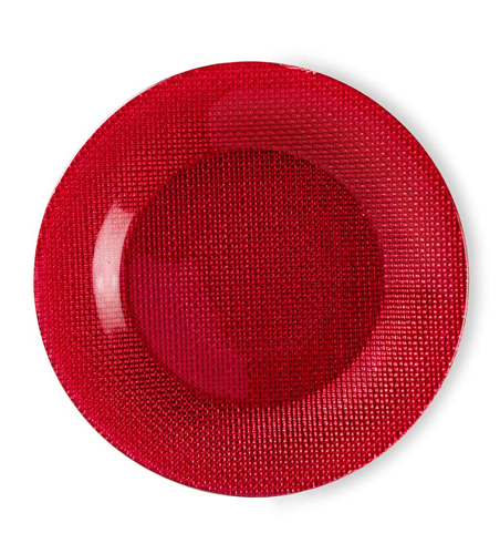 Piatto rosso Bormioli Rocco