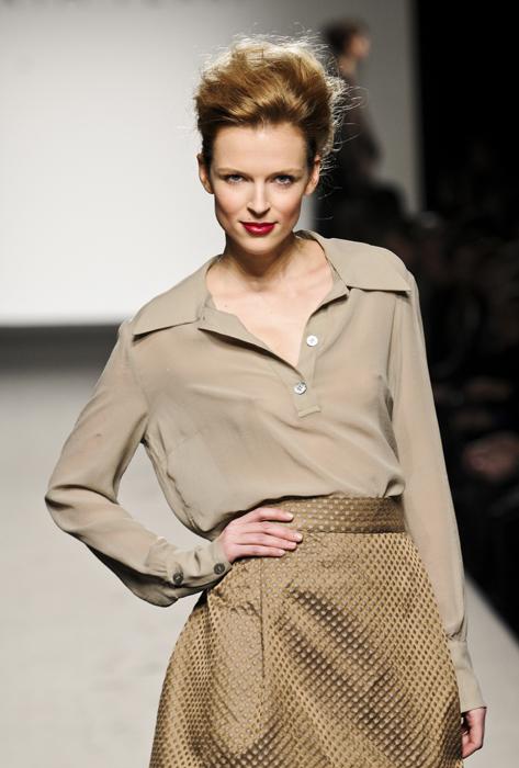 Marta Ferri camicia color cipria