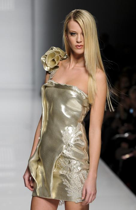 Tony Ward minidress dorato