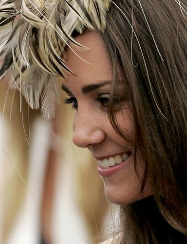 Kate Middleton piume