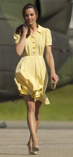 Kate Middleton abito giallo