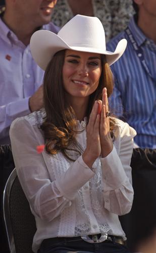 Kate Middleton cappello cowboy